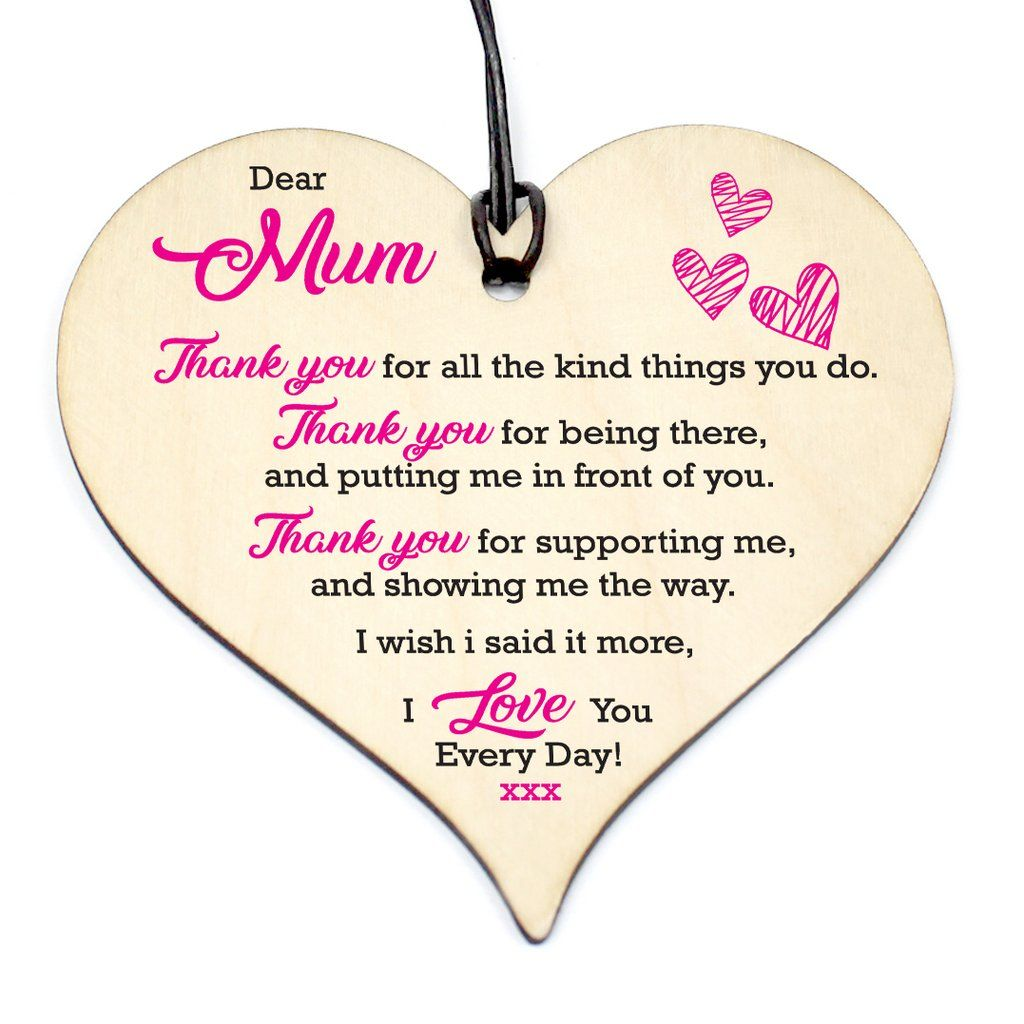 #817 MUM I Love You Every Day Plaque Friendship Wood ...