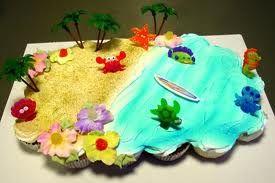 Beach Cake Luau Party In 2019 Cake Cupcake Cakes Cupcake
