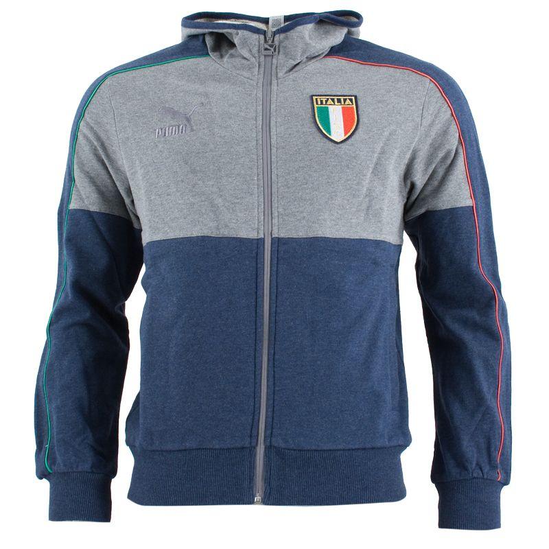 Puma - Italia Felpa Ufficiale con Zip e Cappuccio T7  c93f4a6067c17