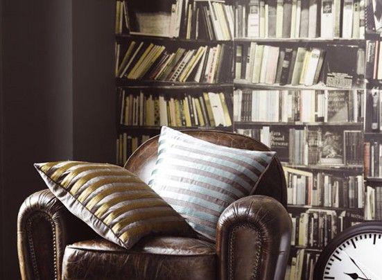 Genuine Fake Bookshelf Wallpaper Deborahbowness Shop Books