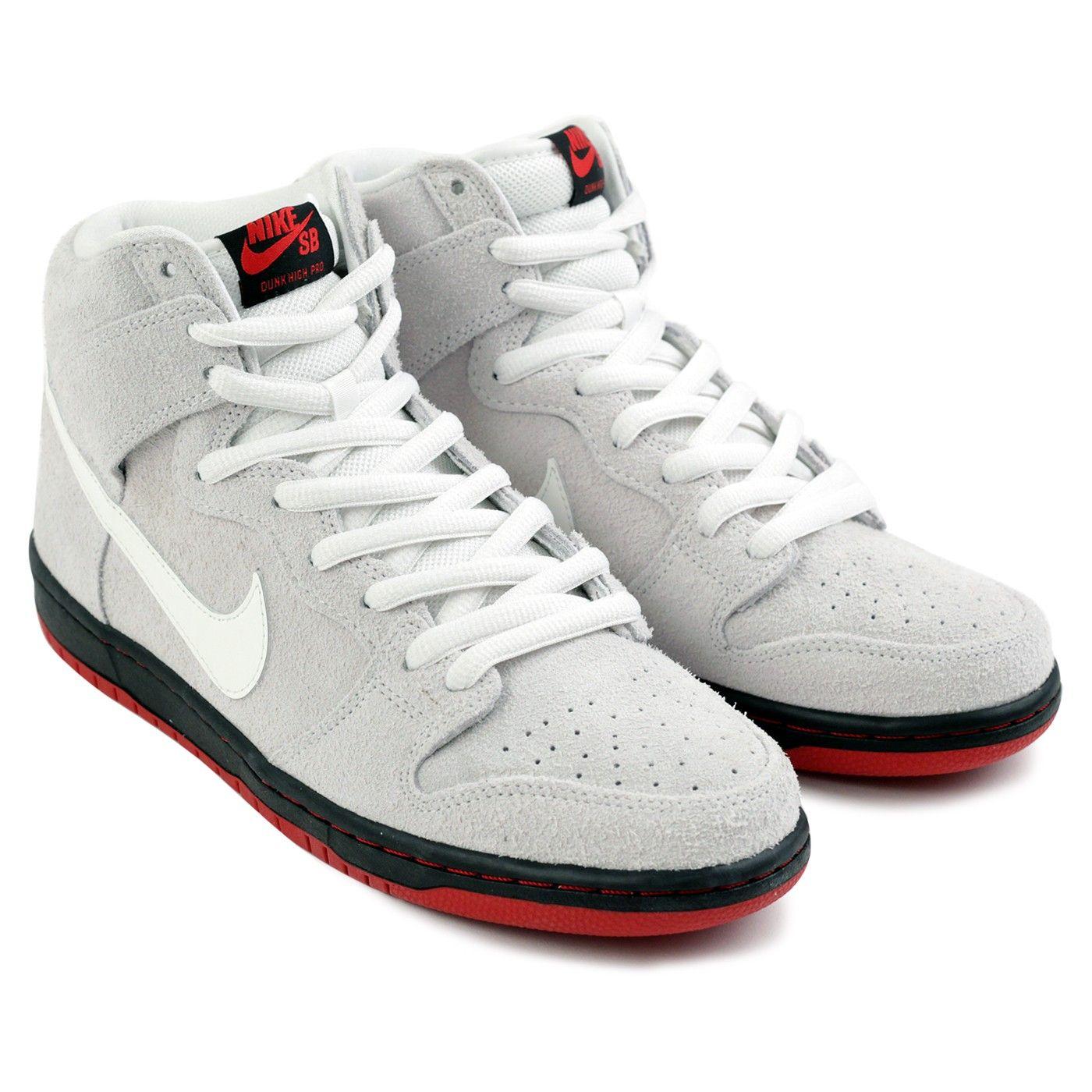 Dunk High TRD QS Black Sheep Shoes in Summit White   Summit White - Black  by Nike SB 110bb7e42