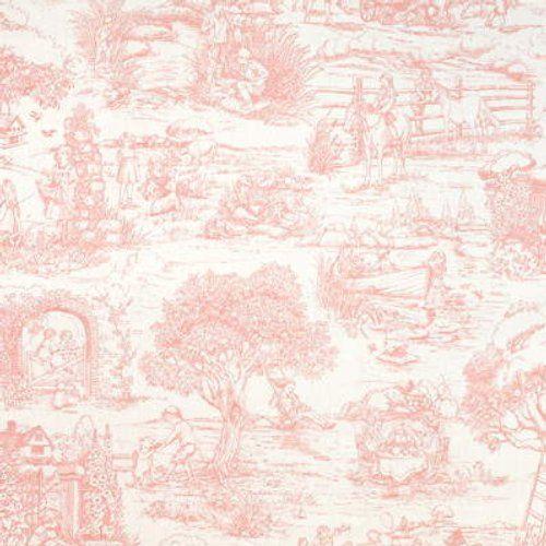 Ralph Lauren Child S Garden Toile Pink Fabric Pink Toile Wallpaper Toile Wallpaper Ralph Lauren Fabric