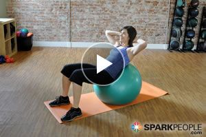 5minute beginner abs workout with ball video  exercise