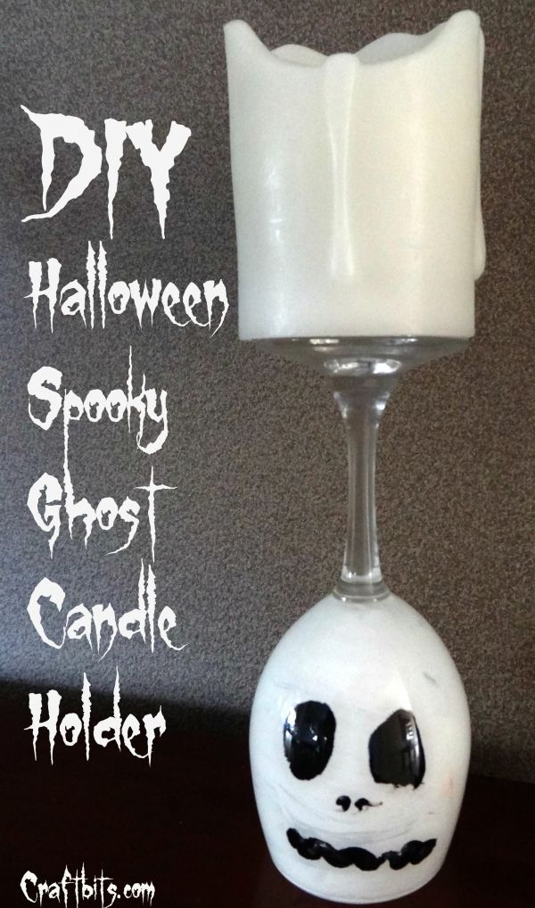 Ghost Candle Holder Halloween Decoration Idea \u2014 craftbits