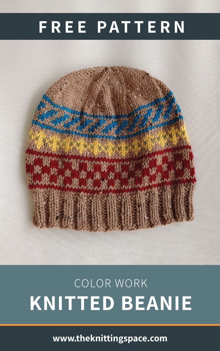 Photo of Color Work Knitted Beanie [FREE Knitting Pattern]