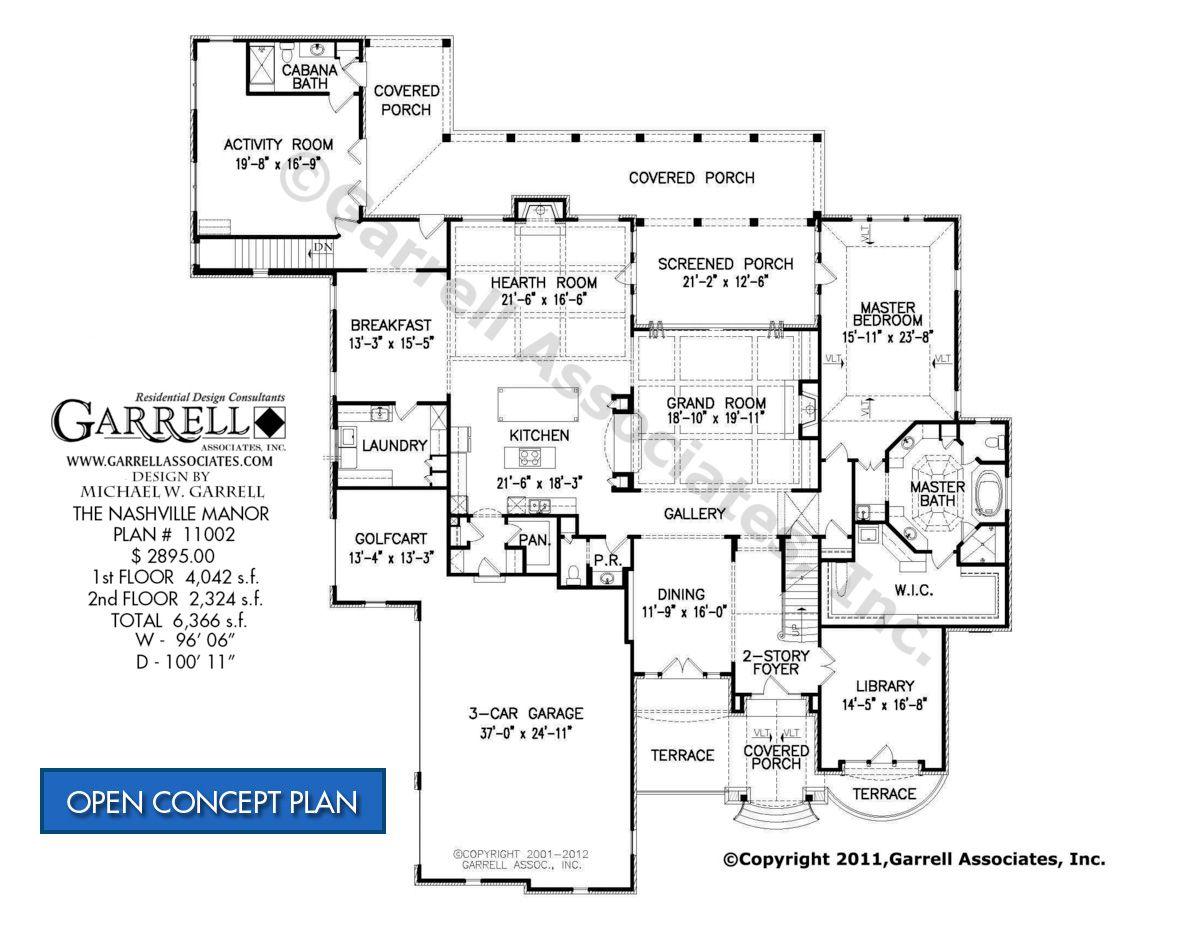 Nashville Manor House Plan 11002, 1st Floor, European House Plans ...