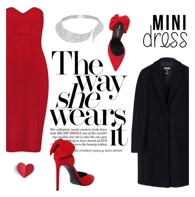 """""""Mini Dress"""" by tesoro-mia ❤ liked on Polyvore featuring Yves Saint Laurent, MSGM, Messika and minidress"""