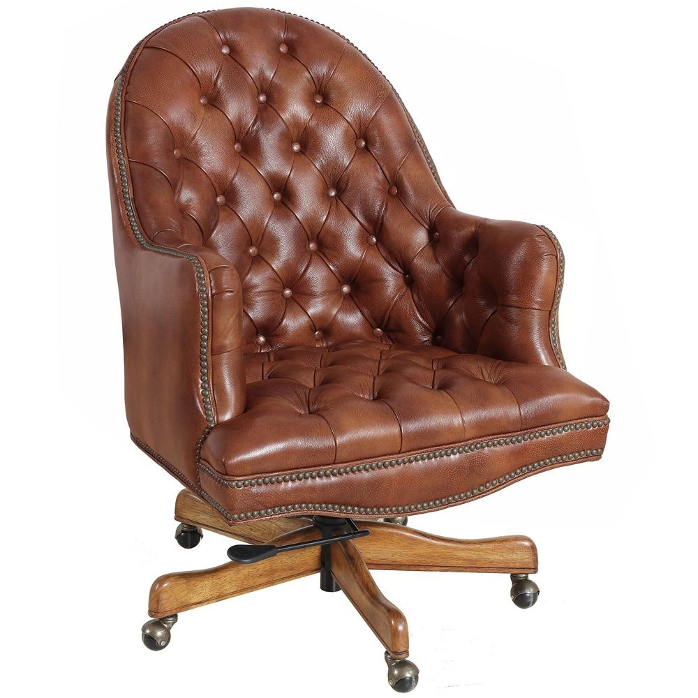 traditionally styled leather executive office chair