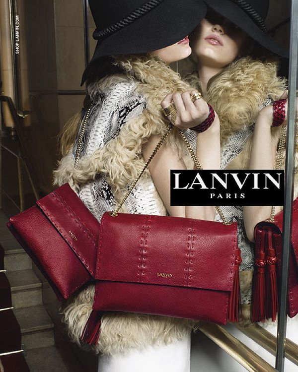 """""""The New #LanvinFW1516 Advertising Campaign. Courtesy of Lanvin /  #TimWalker 