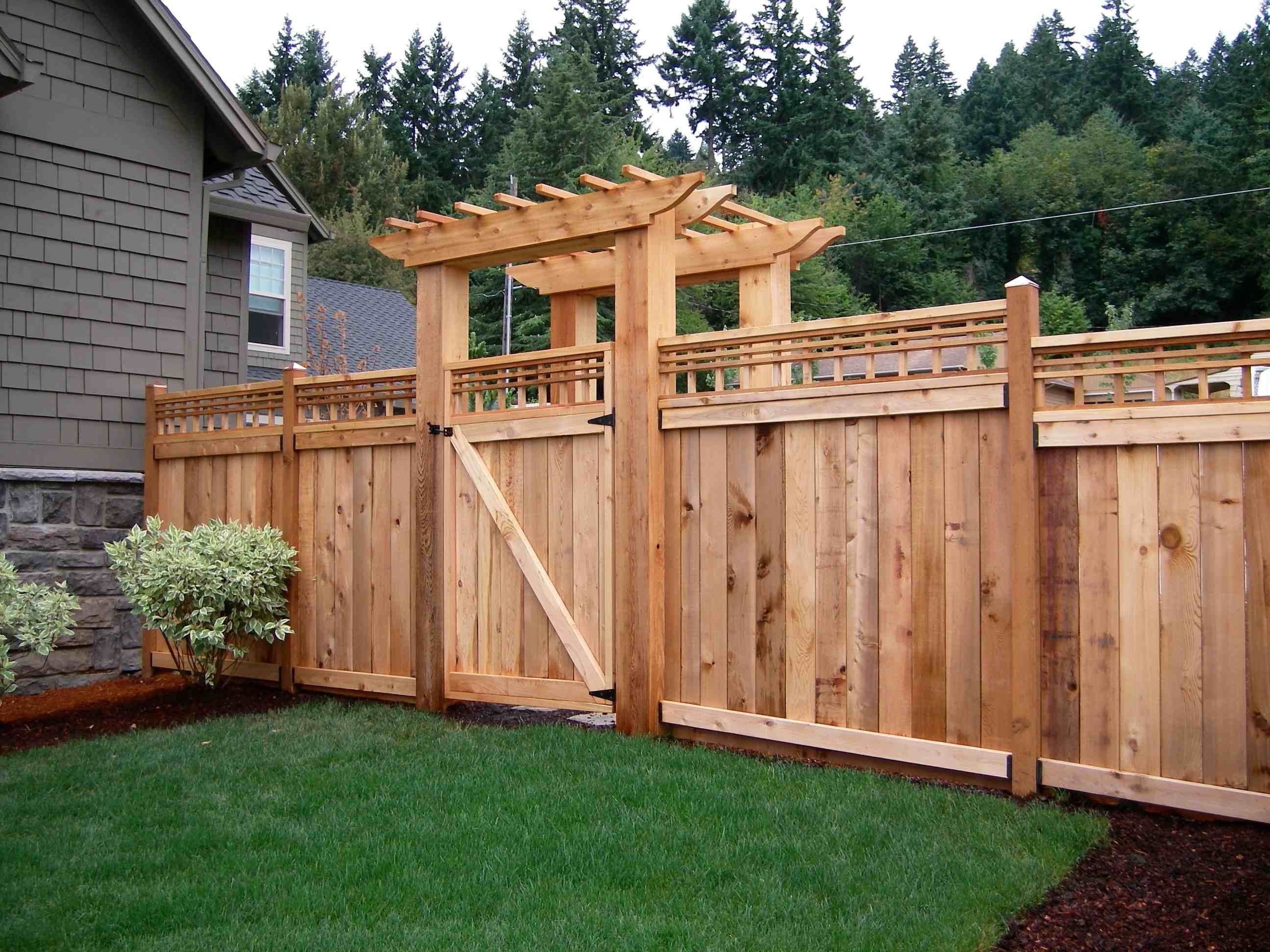 Numerous different thumbnail photos of privacy wood fence designs by ...