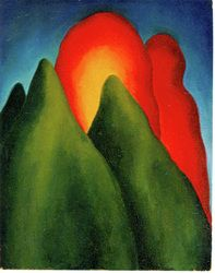 Georgia O'Keeffe, Anything, 1916, Oil on board, 20 x 15 3/4 inches