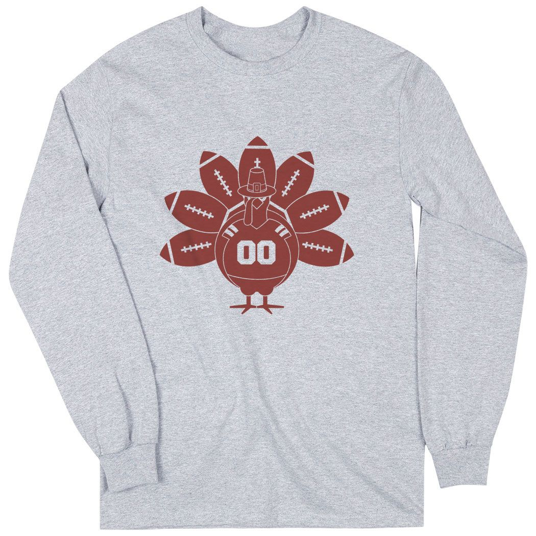 Turkey Feather Long Sleeve T-Shirt