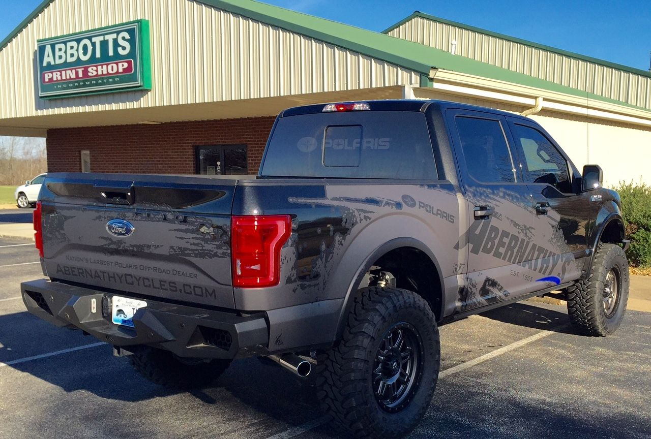 Slick New Custom Designed Wrap On This Ford F150 For Abernathy S Honda Yamaha Polaris In Union City Tennessee Ford F150 Union City Yamaha