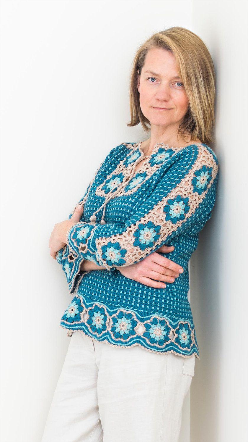 River Whisper Tee crochet pattern #crochetsweaterpatternwomen