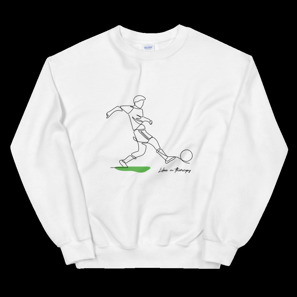 Men's Sweatshirt FOOTBALL/SOCCER Like a therapy – White / 5XL