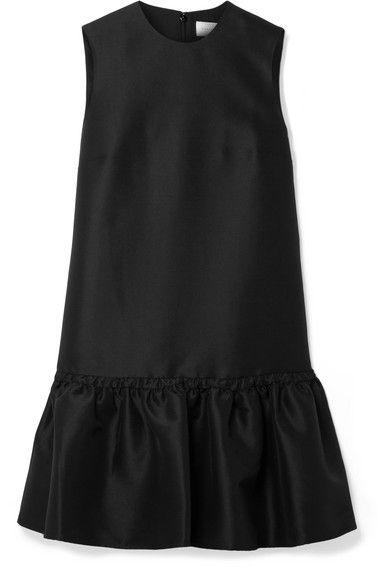 Victoria, Victoria Beckham - Duchesse-satin Mini Dress - Black #duchesssatin