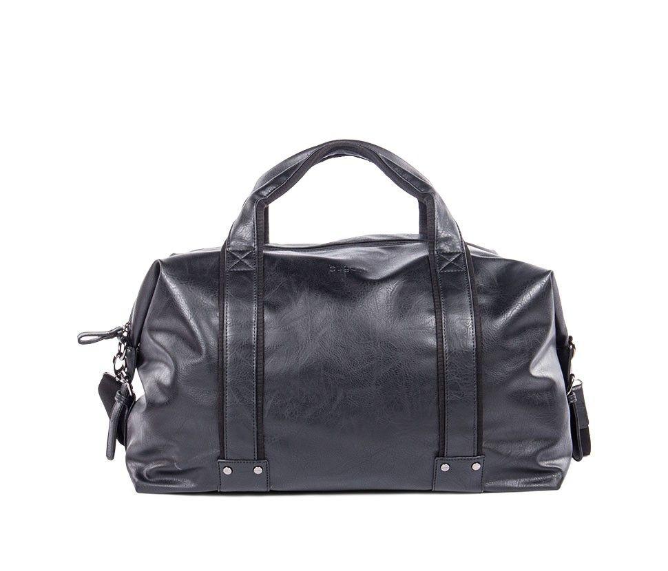 Bugatti Valentino Duffle Bag In Vegan Leather Black Leather Leather Duffle Bag Bags