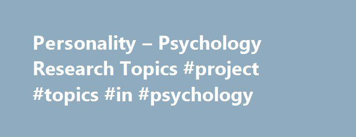 psychology project topics ideas