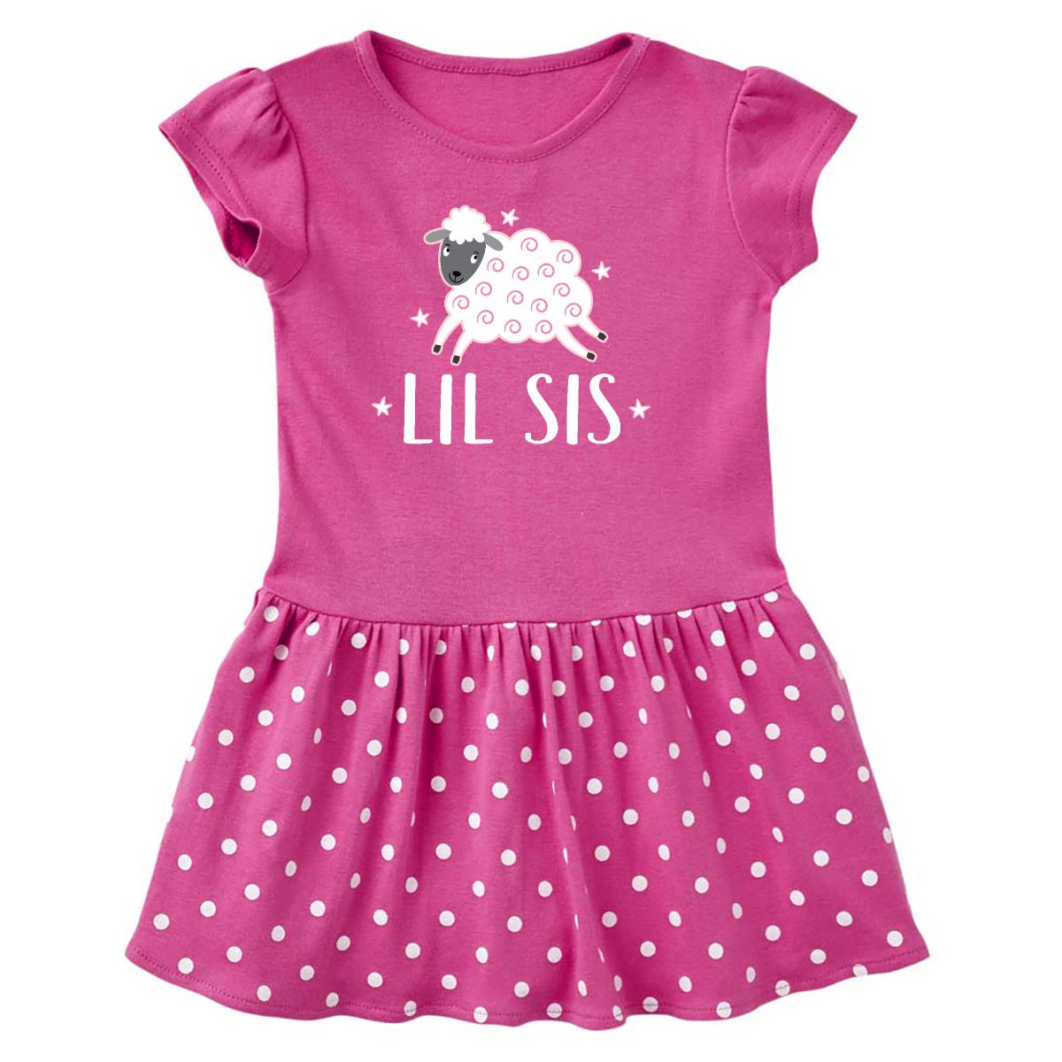 inktastic Lil Sis Unicorn Little Sister Toddler T-Shirt