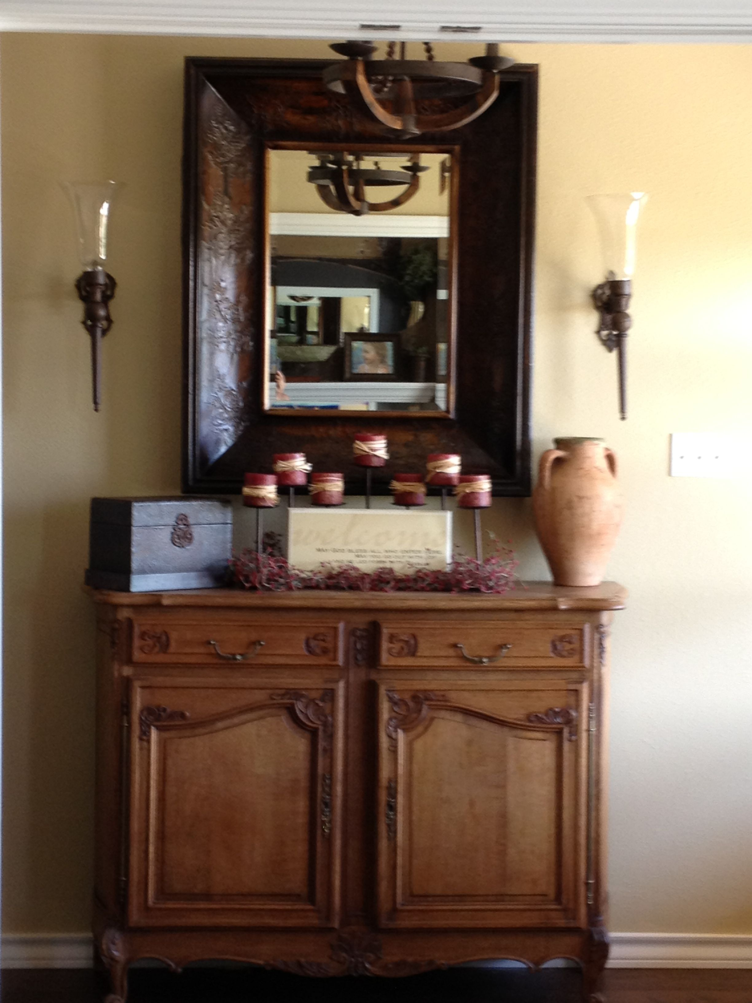 Foyer Table And Mirror Ideas : Entryway table and mirror home pinterest
