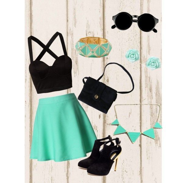 Cute party outfit for teenager girls - clothing, teenager, fashion, beach, winte... #teenagegirlclothes