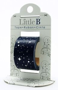 Starry Night Silver Foil Decorative Paper Tape - Little B
