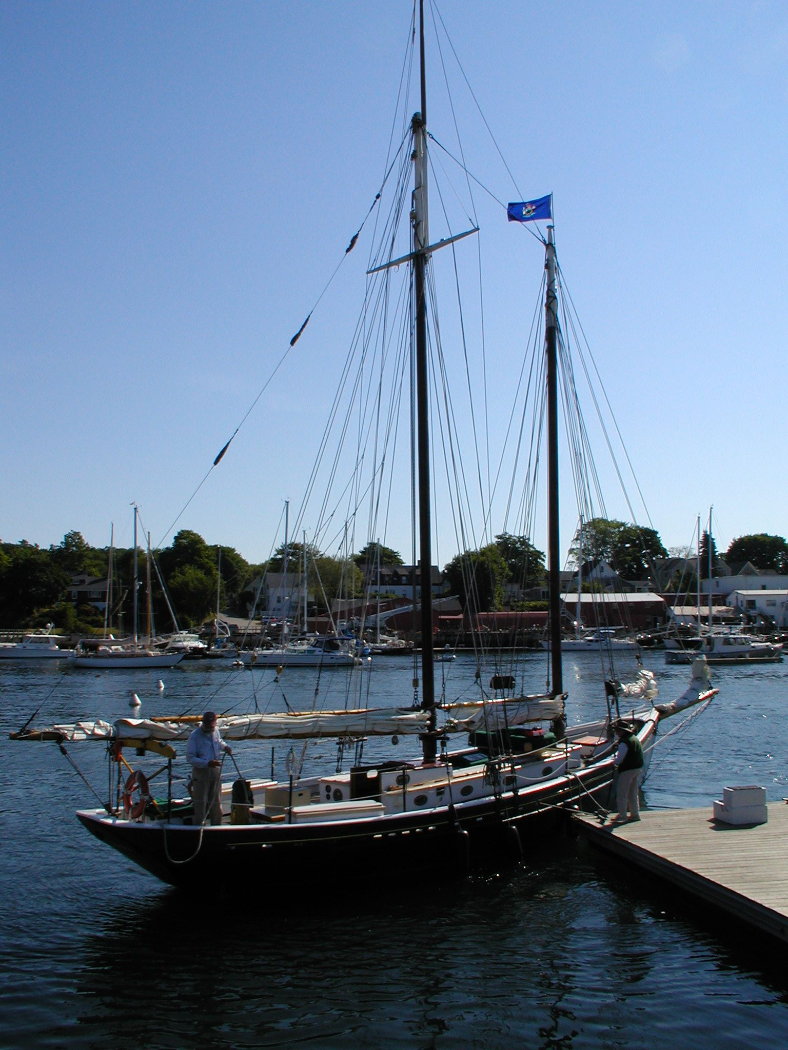 getting ready to go sailing. Camden Harbour. Maine, USA. I took this photo in September 2003