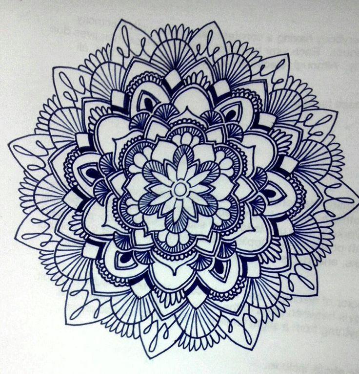tribal flower drawings tumblr - Google Search   Mandala ...