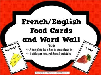 image relating to Printable French Flashcards known as French Foods Flashcards and Phrase Wall International Language