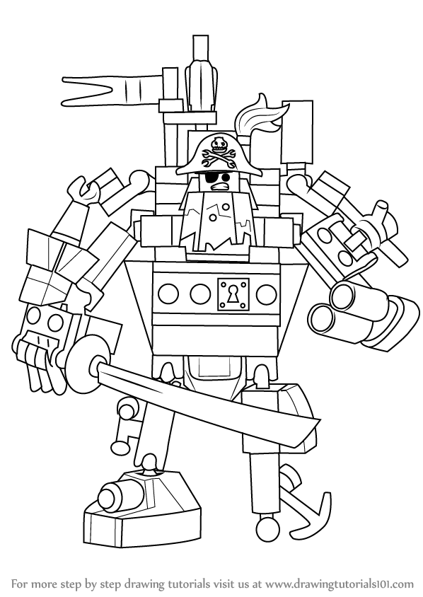 Learn How To Draw Metalbeard From The Lego Movie The Lego Movie Step By Step Drawing Tutorials Lego Movie Lego Movie Coloring Pages Lego