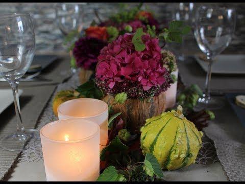 Herbst Tischdeko Dinner Cookingflower Youtube Galda Dekori