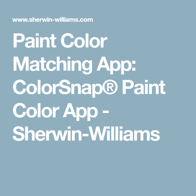 Lowes Paint App >> Paint Color Matching App Colorsnap Paint Color App