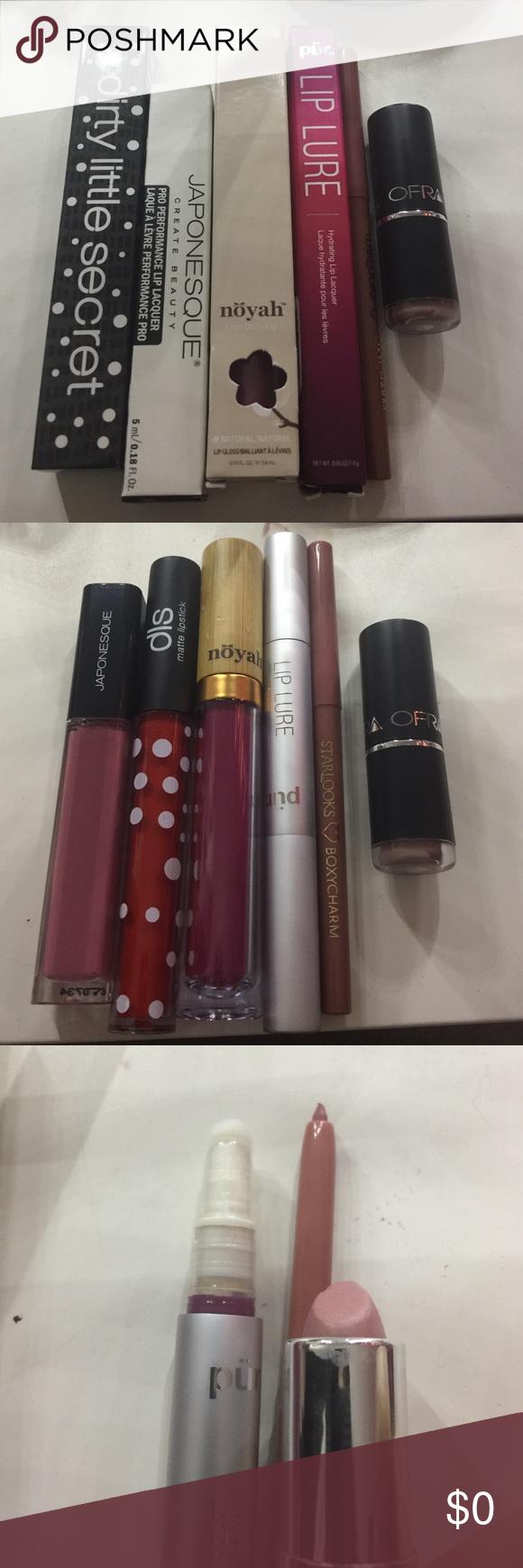 6 lip products! Lip gloss, matte liquid lipstick + (20