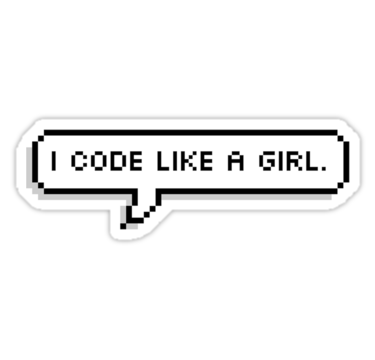 """""""I CODE LIKE A GIRL."""" #Stickers by #MadEDesigns #Redbubble"""