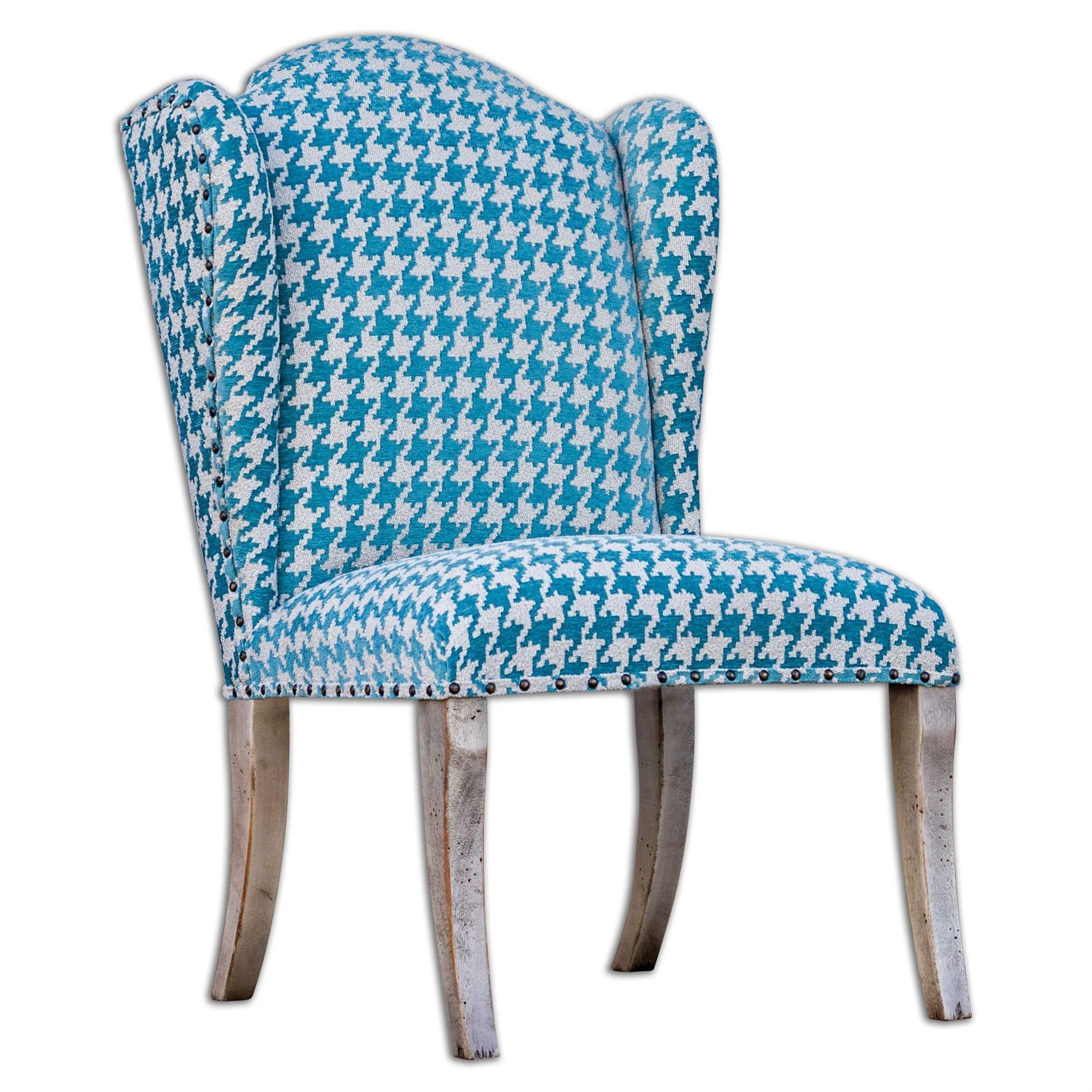 Winesett Blue Armless Chair By Uttermost #shophomedecor #homeaccessories