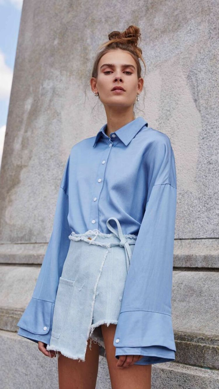 Ss sandy liang fashion shirts pinterest street styles