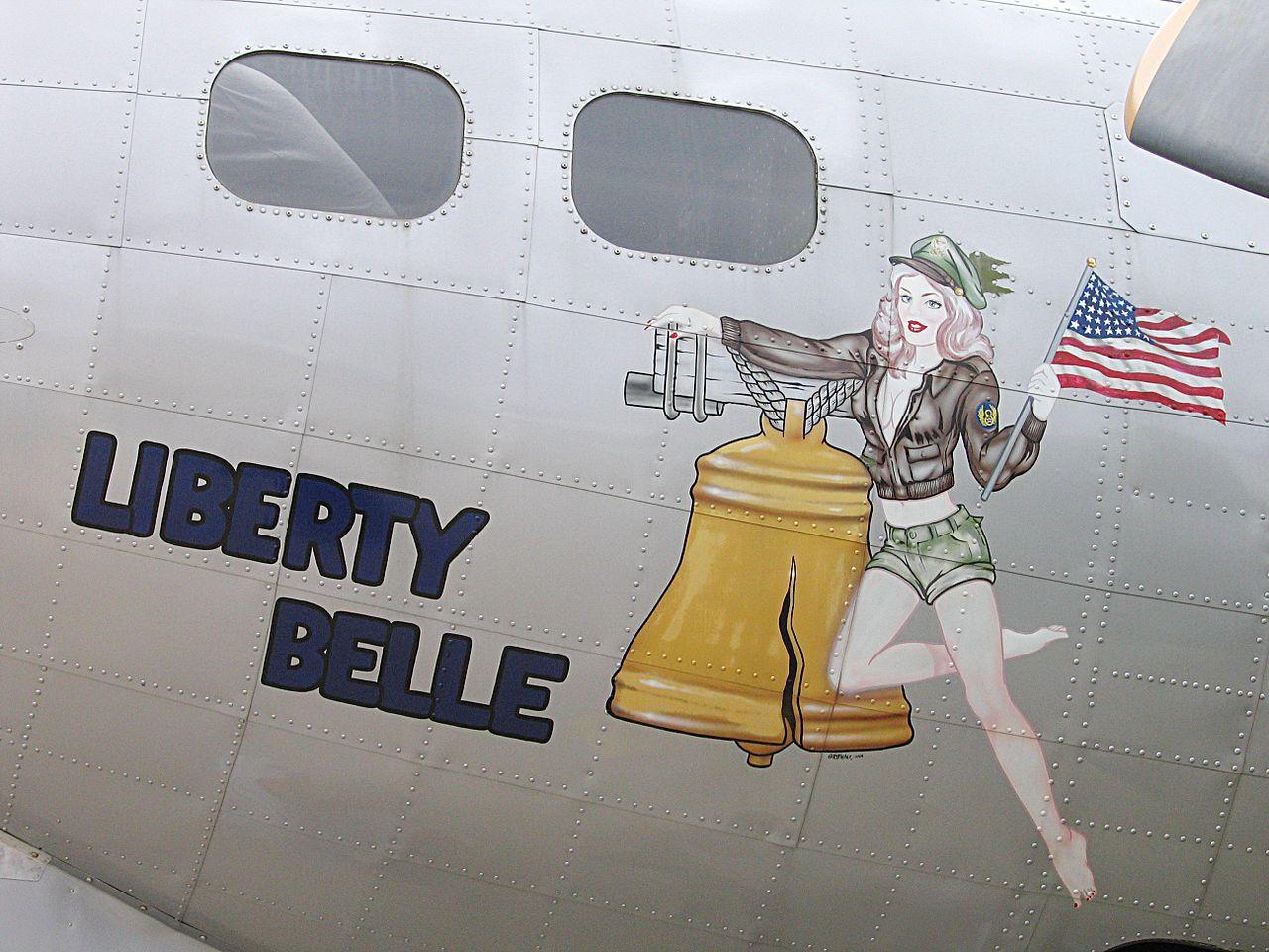 Liberty Belle Nose art, Art, Airplane art