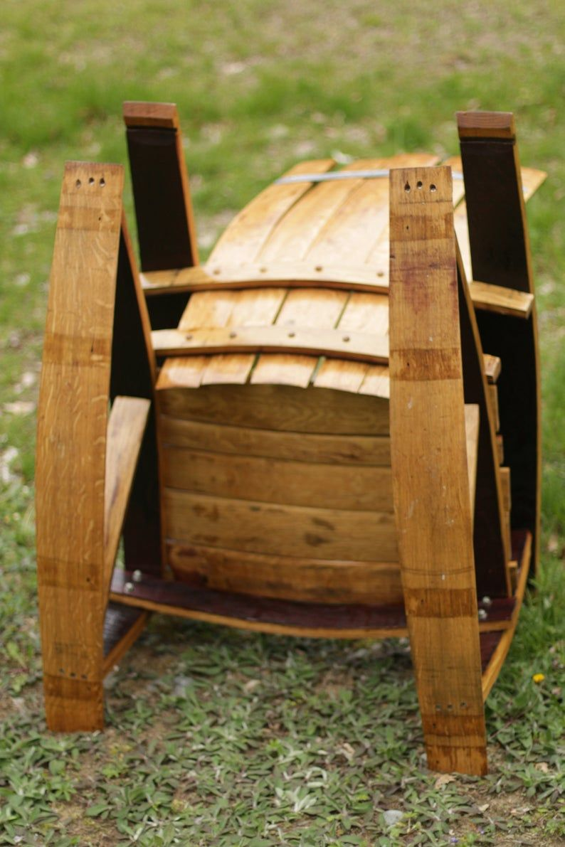 Wine Barrel Adirondack Rocking Chair LOCAL PICKUP ONLY