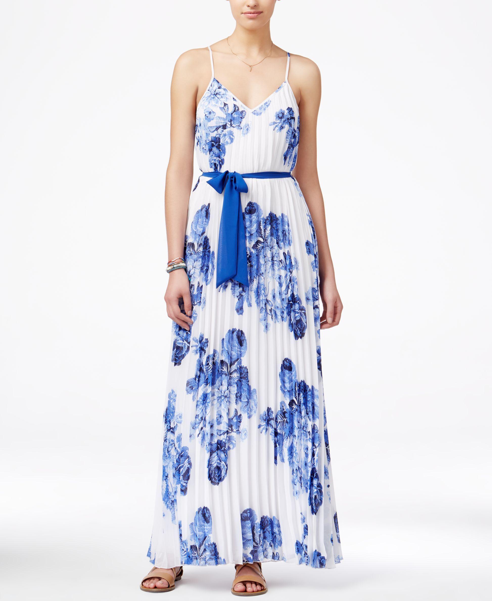 B darlin juniorsu printed pleated maxi dress maxi addict