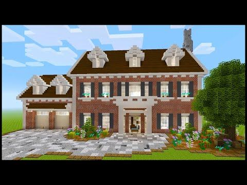 Minecraft How to Build a Colonial House