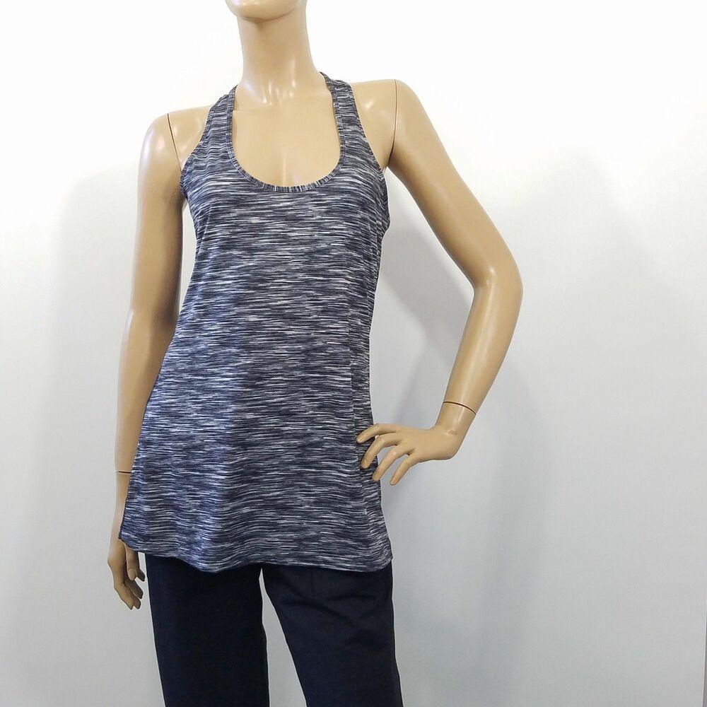 Xersion AthleticTank Top Black Space Dye Stretch Semi Fit