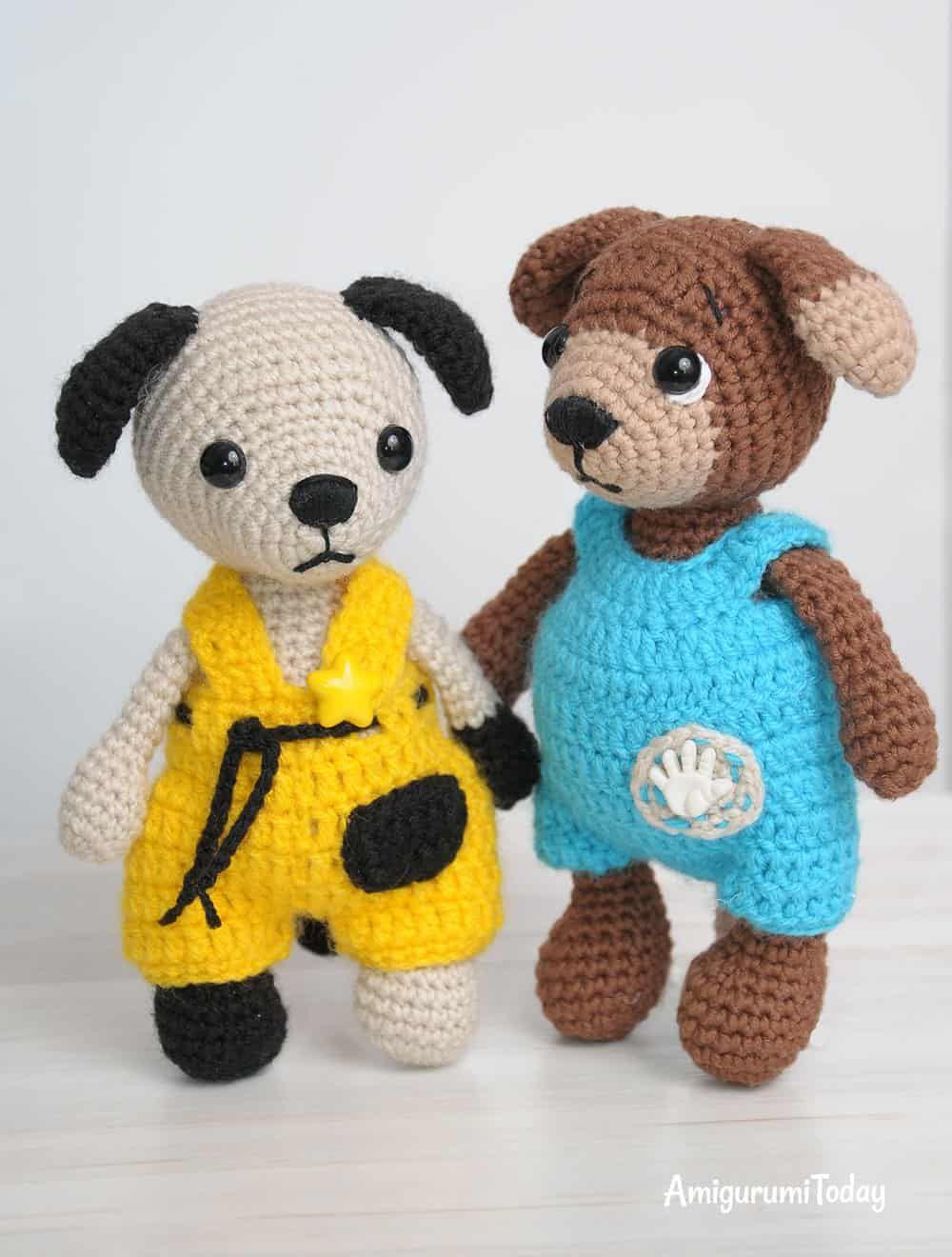 Tommy the Dog en monos - patrón de ganchillo | amigurumi | Pinterest ...