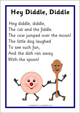 Hey Diddle, Diddle rhyme sheet (SB10760) - SparkleBox | Free ...