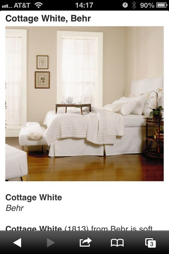 Behr Cottage White White Paint Colors Paint Colors For Home Room Colors