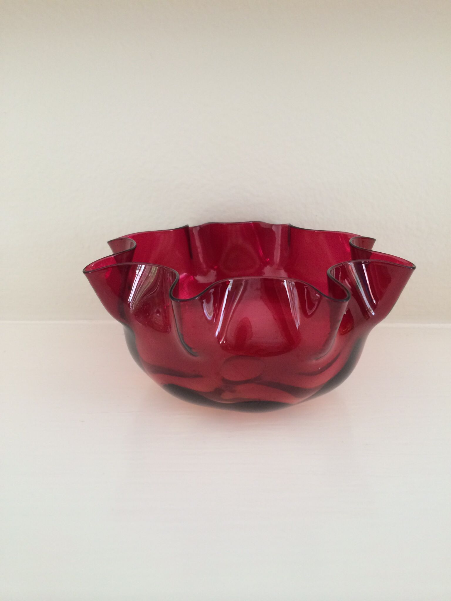 Mt Washington Rose Amber Finger Bowl With 8 Ruffle Rim 5 3 4 Inch Doa And 2 3 4 Inch Hoa Hfcol Bowl Decorative Bowls Decor