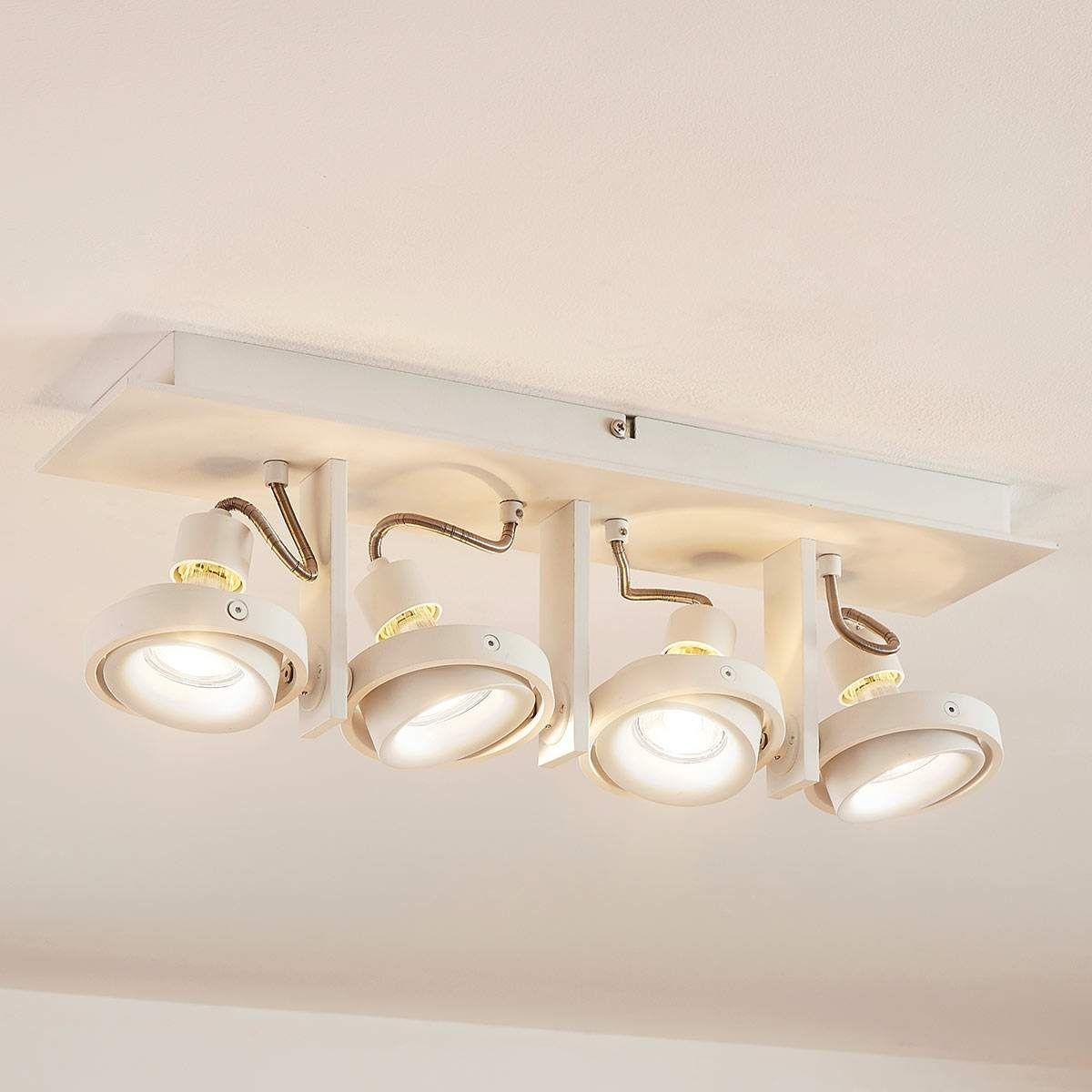 Weisse Vierflammige Led Deckenleuchte Teska Led Deckenleuchte Led Deckenlampen Deckenlampe