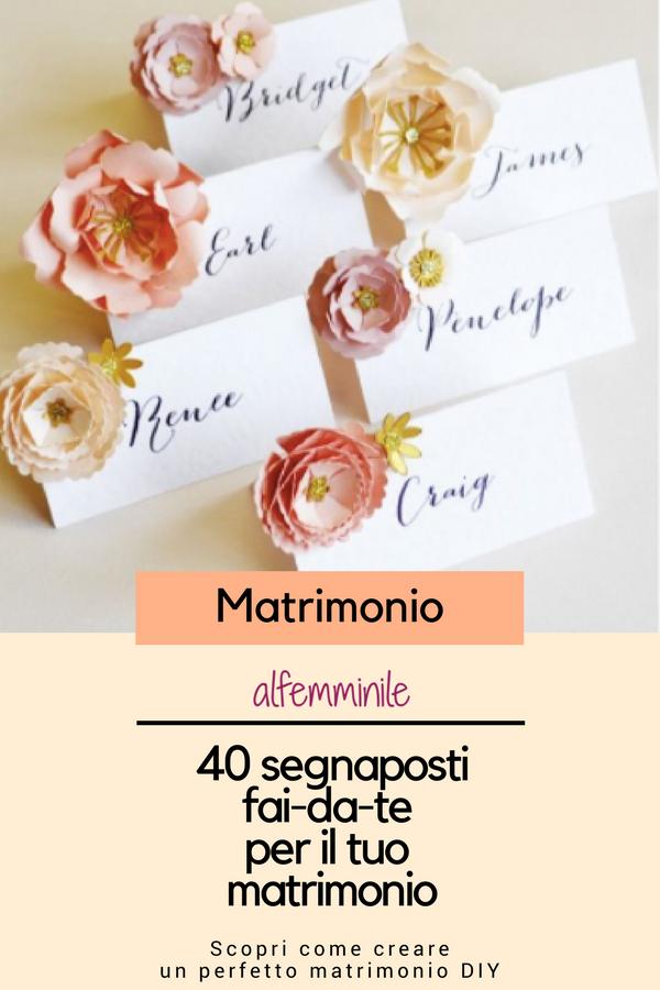 40 idee di segnaposti fai-da-te per il tuo matrimonio ...