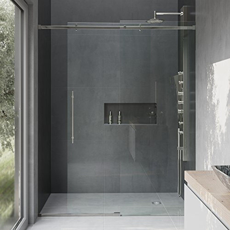 VIGO Luca 56 to 60-in. Frameless Sliding Shower Door with .375-in ...