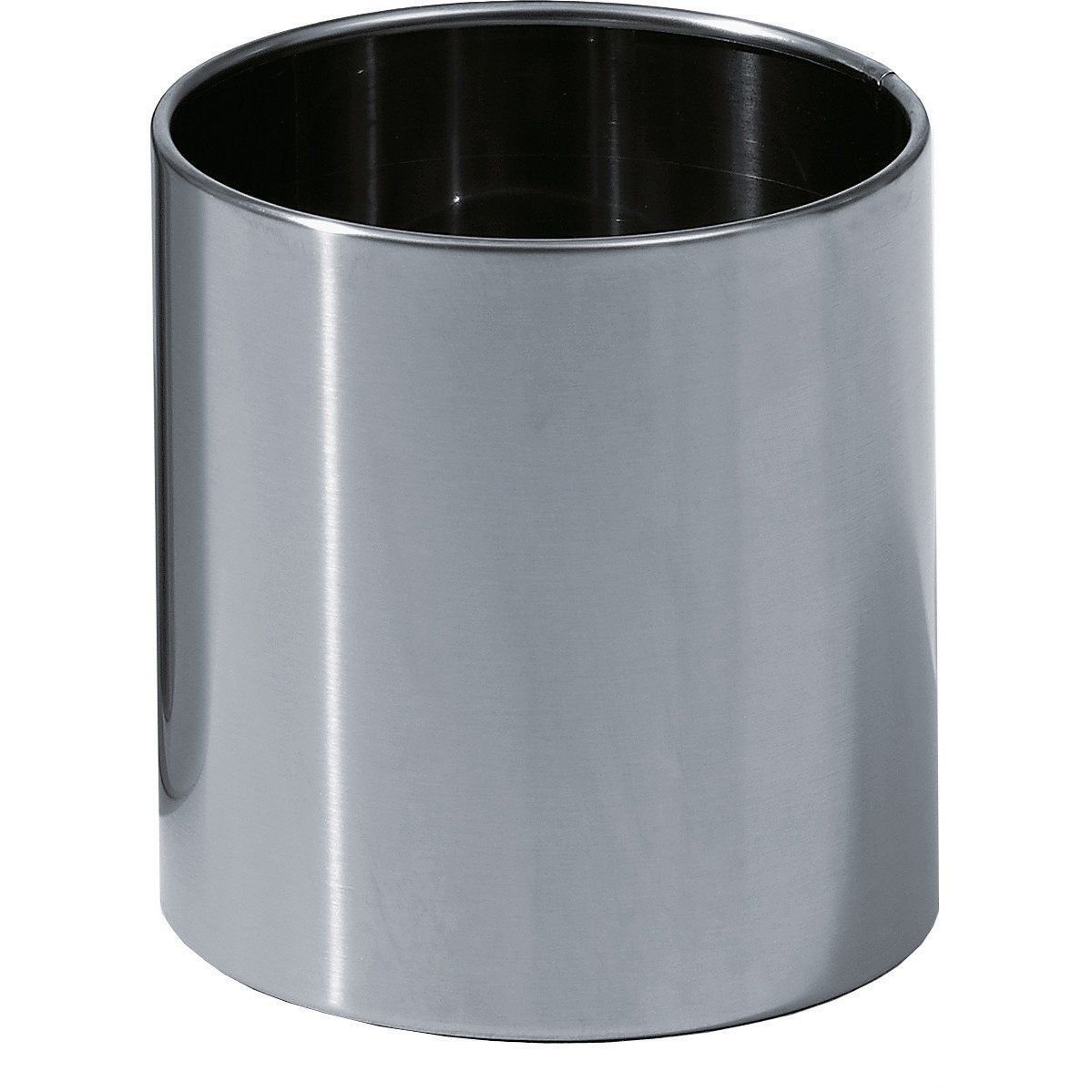 Dw 105 Round Open Top Trash Can Stainless Steel Wastebasket W O