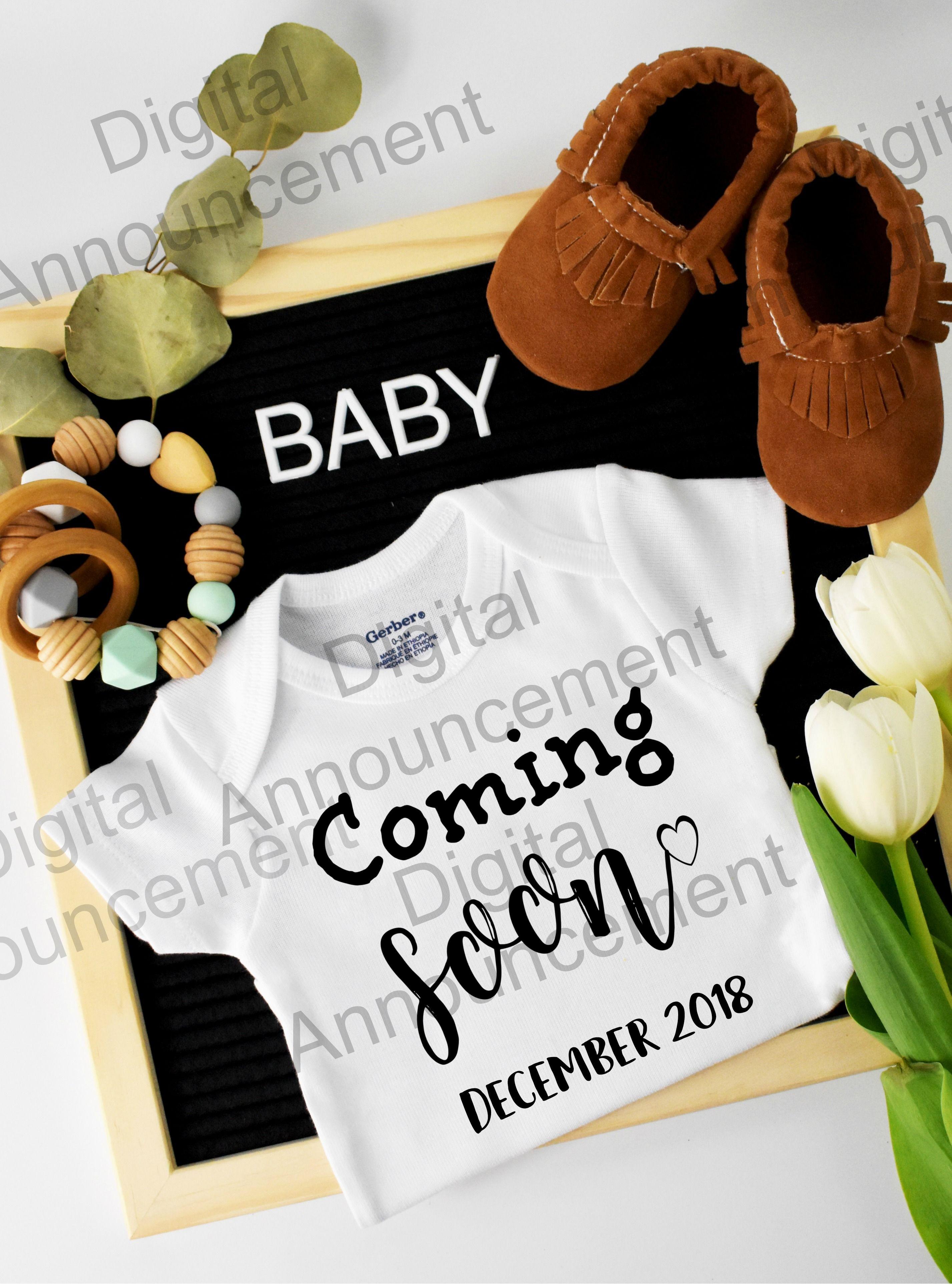 8ccc440b7 Digital Pregnancy Reveal for Social Media | Baby announcements ideas ...